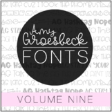 Amy Groesbeck Fonts: Volume Nine