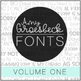 Amy Groesbeck Fonts: Volume One