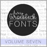 Amy Groesbeck Fonts: Volume Seven