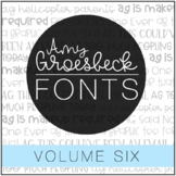Amy Groesbeck Fonts: Volume Six