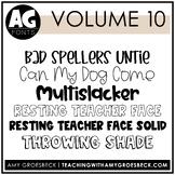 Amy Groesbeck Fonts: Volume Ten