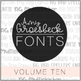 Amy Groesbeck Fonts: Volume Ten