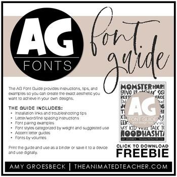 Amy Groesbeck Fonts: Volume Three