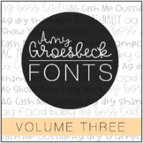 Amy Groesbeck Fonts: Volume Three