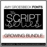 Amy Groesbeck Script Fonts: Bundle