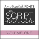Amy Groesbeck Script Fonts: Volume One