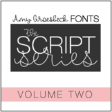 Amy Groesbeck Script Font Series: Volume Two