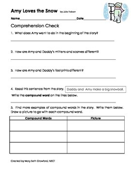Amy Loves the Snow {Comprehension and Skill Packet}