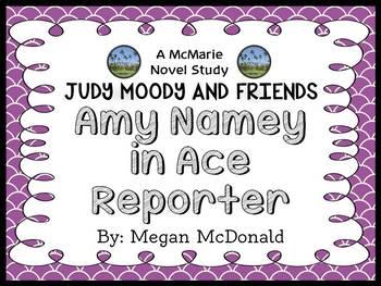 Amy Namey in Ace Reporter (Megan McDonald) Novel Study / Comprehension