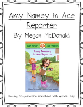 Amy Namey in Ace Reporter Reading Comprehension
