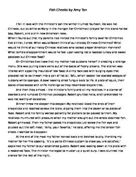 """Amy Tan: """"Fish Cheeks"""" Full Text"""