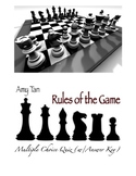 "Amy Tan's ""Rules of the Game"" 50 Multiple Choice Question"
