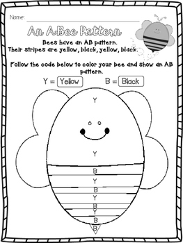 An A-Bee Pattern {Hands On Pattern Practice}