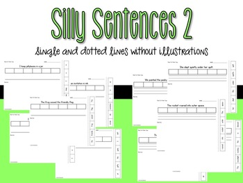 Sentence Sequencing - An A-Z of Silly Sentences (Pack 2)