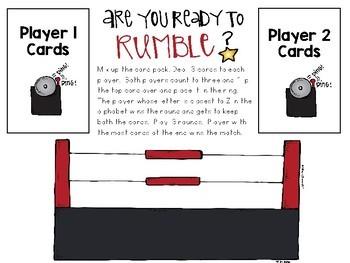 An A-Z wrestling match!  Alphabetic Principle practice