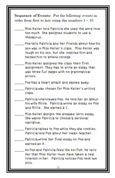 An A from Miss Keller (Patricia Polacco) Novel Study / Comprehension  (19 pages)