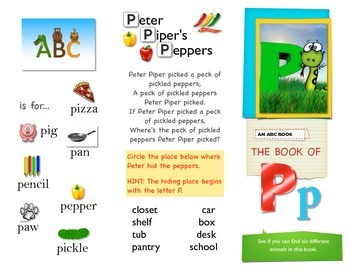First Sound Fluency - Literacy RTI letter P or Puh - Phonemic Awareness ESL SPED