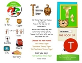 Phonics Letter T - interactive booklet - Literacy PK K 1st SPED ESL