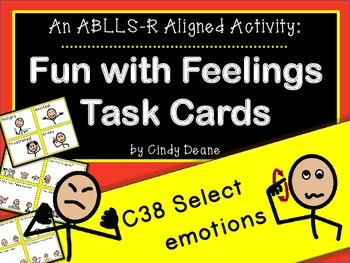 ABLLS-R ALIGNED ACTIVITIES C54 Feelings Task Cards with SymbolStix
