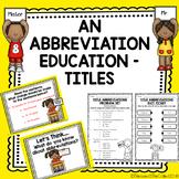 An Abbreviation Education - Titles