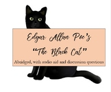 """An Abridged Version of Poe's """"The Black Cat"""" with Audio and Discussion Questions"""