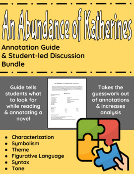 An Abundance of Katherines Annotation Guide and Student-led Discussion Bundle