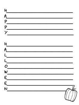 An Acrostic Poem for Halloween and Thanksgiving