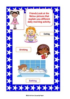 An Action Verbs pack as common core ELA < KG - 2nd Grades>