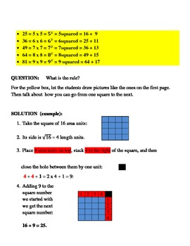An Activity in A UNIFYING APPROACH TO ARITHMETIC, ALGEBRA, GEOMETRY