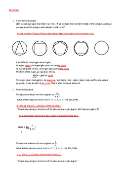 An Activity in discovering Limits (Calculus) Geometric and Sequence approach