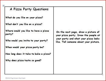 An Interactive Book: A Pizza Party