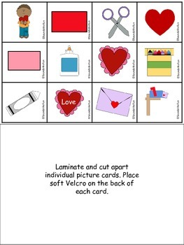 An Adapted Interactive Book: Let's Make a Valentine!