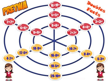 Addition Game & Subtraction Game in One: Pretwa - 12 Game Boards