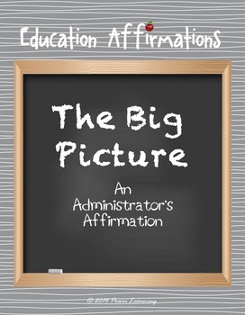 An Administrator's Affirmation (Professional Development)