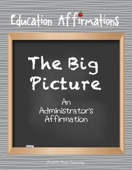 An Administrator's Affirmation (Professional Development)