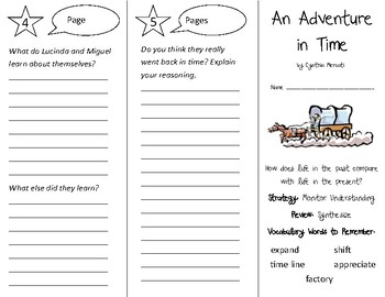 An Adventure in Time Trifold - 3rd Grade Literacy by Design Theme 5