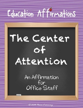An Affirmation for Office Staff (Professional Development)