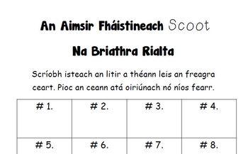 An Aimsir Fháistineach Scoot. Na briathra rialta.