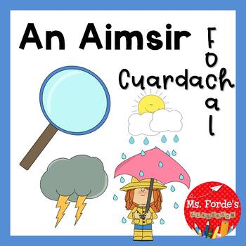 An Aimsir cuardach focal (Irish Wordsearch weather theme)