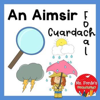 An Aimsir cuardach focal (Irish Wordsearch weather theme)
