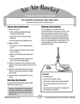 An Air Rocket (Properties of Earth Materials)