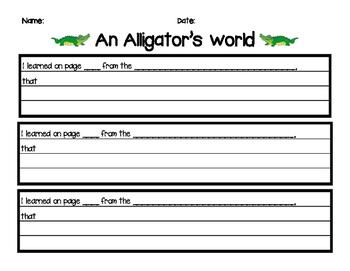 An Alligator's World Note Taking
