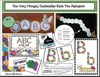 An Alpha-pillar ABC Craft: The Very Hungry Caterpillar Eats The Alphabet!