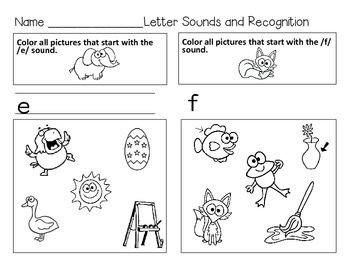 An Alphabet Book for Kindergarten: Recognize and Write Letter Sounds
