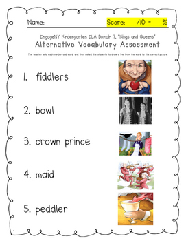 "An Alternative Assessment for EngageNY Kindergarten ""Kings and Queens"" Domain"