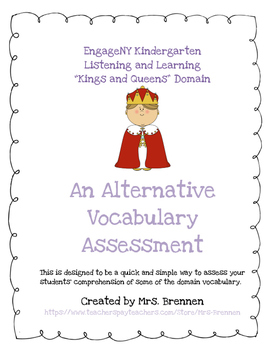 "An Alternative Assessment for EngageNY Kindergarten ""Kings"