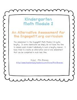 An Alternative Assessment for the EngageNY Kindergarten Math Module 2