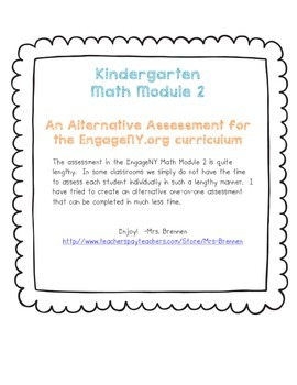 An Alternative Assessment for the EngageNY Kindergarten Ma