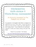 An Alternative Assessment for the EngageNY Kindergarten Math Module 3