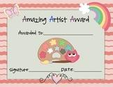 Amazing Artist Award Set